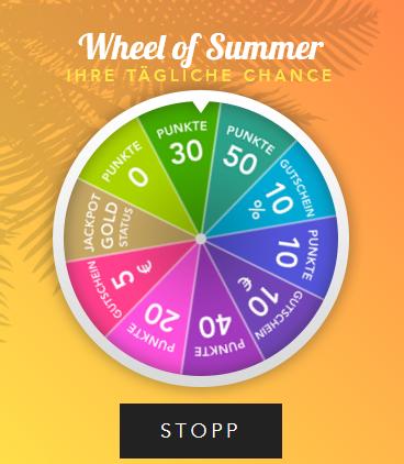 """[BestSecret] Gewinnspiele: tägliches Glücksrad """"Wheel of Summer"""" bis 1. 8. / über Instagram bis Ende September einen 100€ Gutschein gewinnen"""