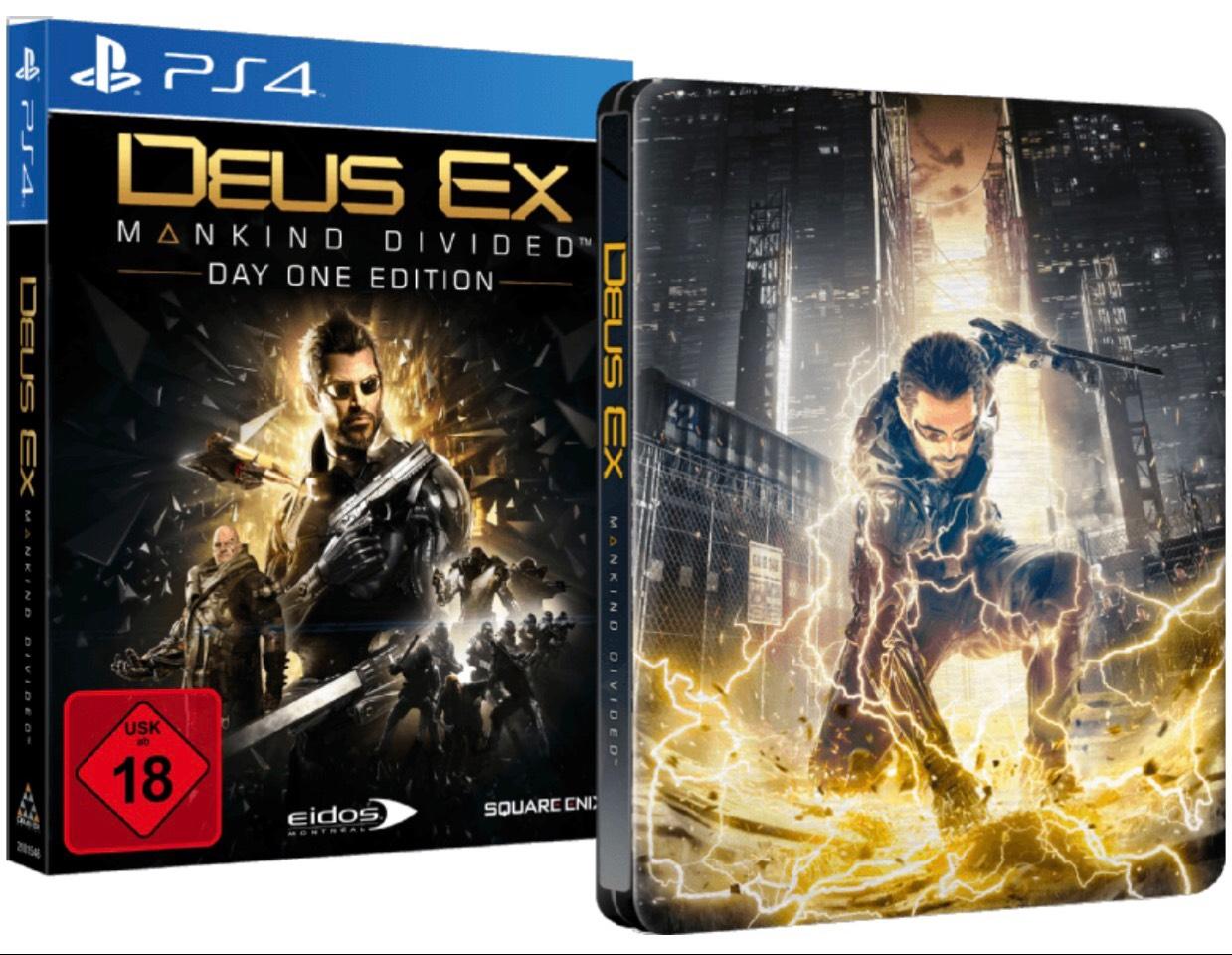 Deus Ex - Mankind Divided (Day One Edition inkl. Steelbook) [PlayStation 4] [Mediamarkt]
