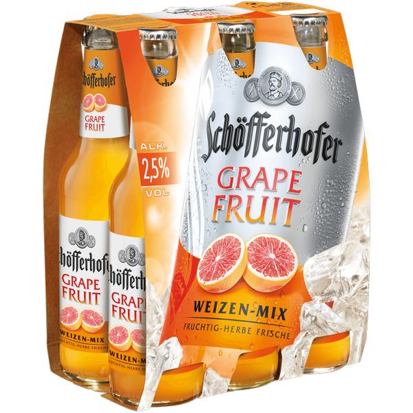 [Lokal Frankfurt] Sixpack Schöfferhofer Grapefruit/Kaktusfeige (-1€ Scondoo Cashback) @Edeka (Deutschlandweite Angebote im Deal!)