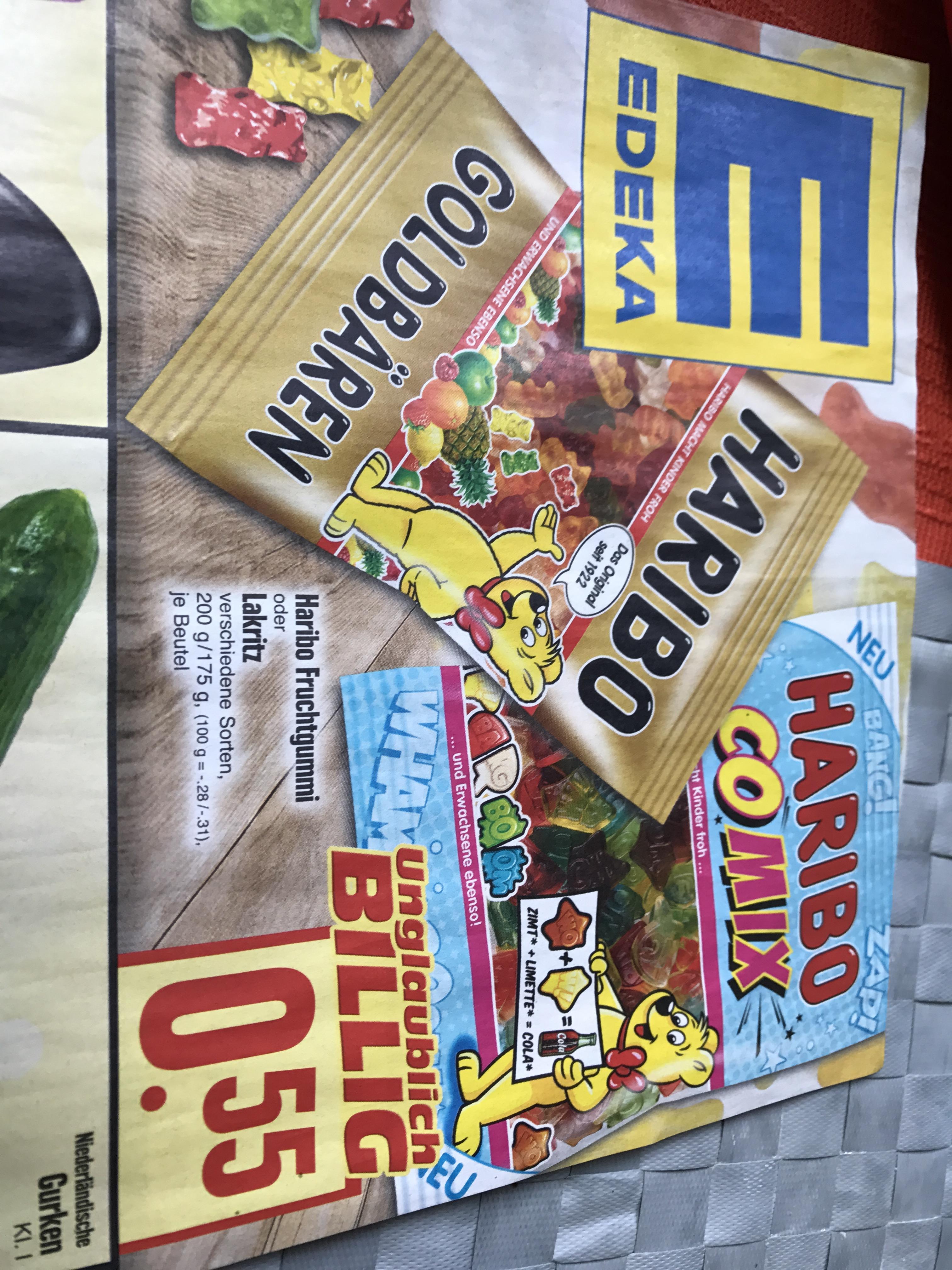 Haribo Fruchtgummi oder Lakritz (versch. Sorten) für je 0,55€ @Edeka Hessenring Gebiete