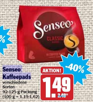 [Hit] Senseo Kaffeepads für 1,49 €