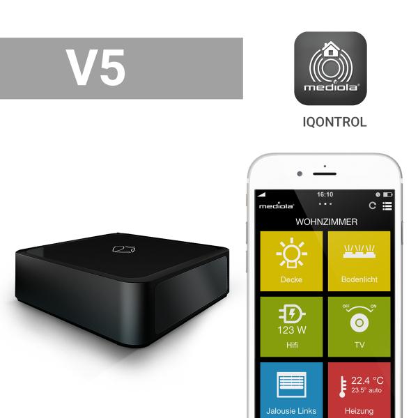 mediola AIO Gateway V5 > Smart Home Gateway < Sprachsteuerung mit Alexa, Funk, IR, IP