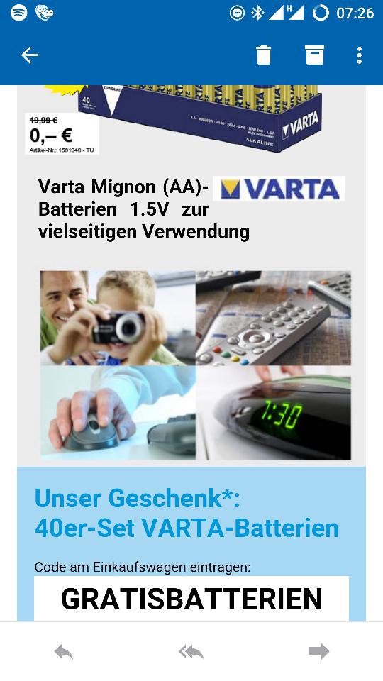 Gratisbatterien bei Conrad 40 Stück MBW 49Euro