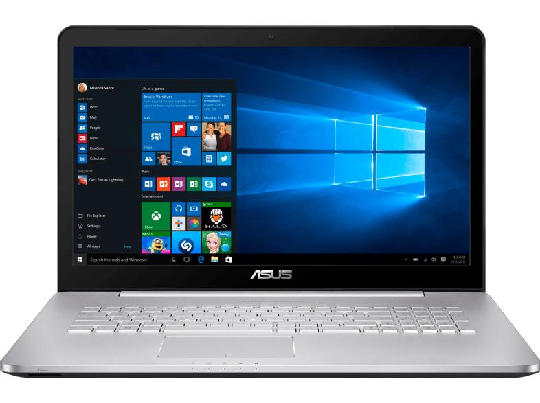 [Saturn.at] ASUS Computer Asus N752VX-GC146T 43,9 cm (17, 3 Zoll FHD) Notebook (Intel Core i7 6700HQ, 8GB RAM, 1TB HDD, 512GB SSD, Nvidia GTX 950M 4GB, DVD, Win 10 Home) silbergrau