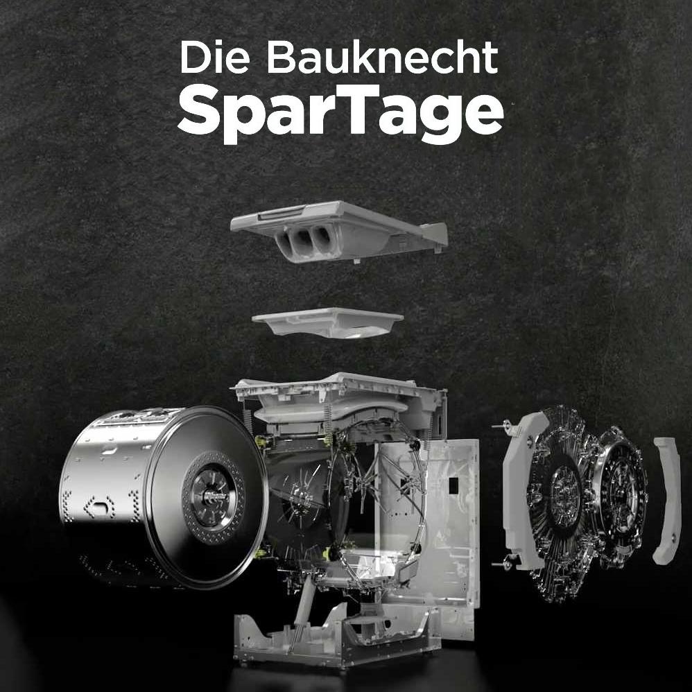 Bauknecht SparTage bei ao - z.B. teilintegrierbarer Geschirrspüler A++ Edelstahl für 299 € statt 404 € oder Wärmepumpentrockner für 409 € statt 504 €