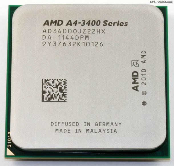 AMD A4-3400, 2x 2.70GHz Sockel FM1, tray ab 2,90 € (inkl. Versand 8,90 €)