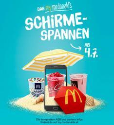 My Mcdonalds Schirme-Spannen (Gratis Produkte!) ab 4.7