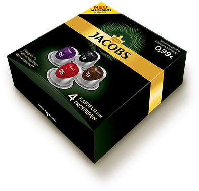 1x Probeset von Jacobs für Nespresso® Maschine (4 Kapseln)