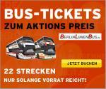 Das Mitfahrgelegenheit AktionsTICKET von Berlinlinienbus.de Berlin- Hamburg tagsüber 9€ etc.