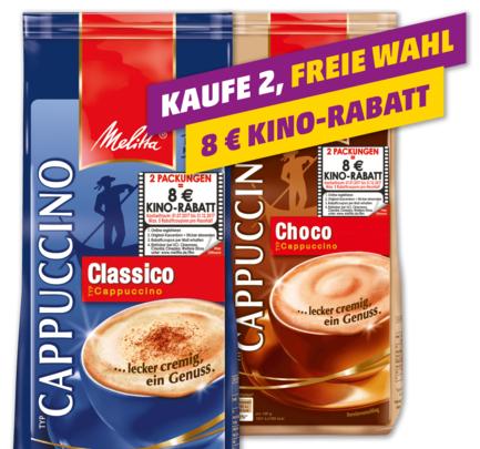 [Penny bundesweit & Sky Supermärkte] 10x Melitta Typ Cappuccino + 5x 8€ Kinogutschein für 20,50€