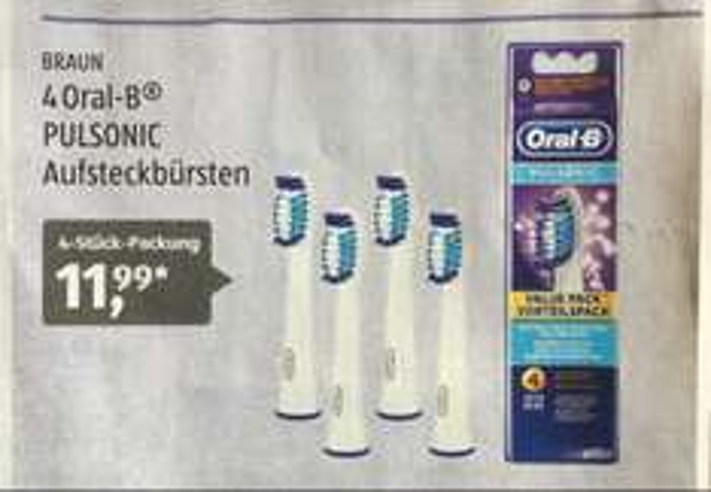 [Aldi Süd, ab 03.08.17] 4 Oral-B Pulsonic Aufsteckbürsten