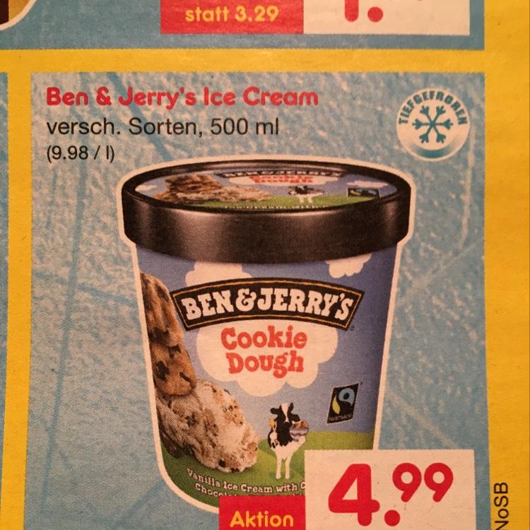 [Lokal Sylt] Ben & Jerry's 500 ml verschiedene Sorten
