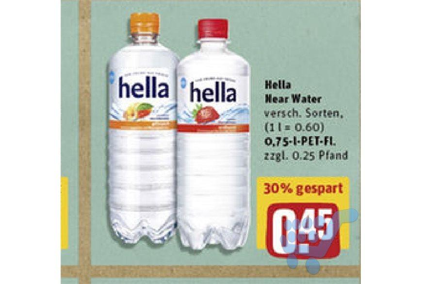 0,75l Hella Mineralwasser Flasche für 0,45€ bei Rewe (mit 50% Scondoo für 0,23€/Flasche)