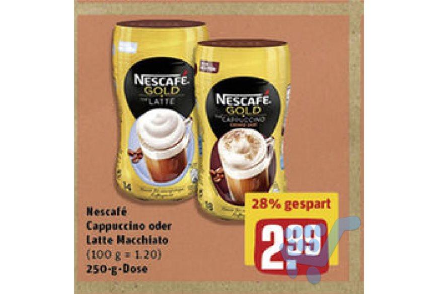 NESCAFÉ Gold Cappuccino/Latte Macchiato 250Gramm Dose @Rewe/Penny (-1,00€ Scondoo)