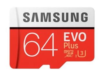 Samsung Evo Plus microSDXC mit 64GB Class 10 / U3 für 19,56€ (Gearbest)