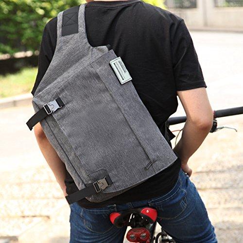 Eshow Herren Canvas  Messenger Bag Umhängetasche  14 Zoll Laptop geeignet in 2 Farben - PRIME (anstatt 34,95€)