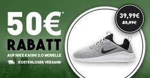 Nike Kaishi 2.0 für 39,99€ (verschiedene Farben) inkl. Versand @Soccer-Fans-Shop.de
