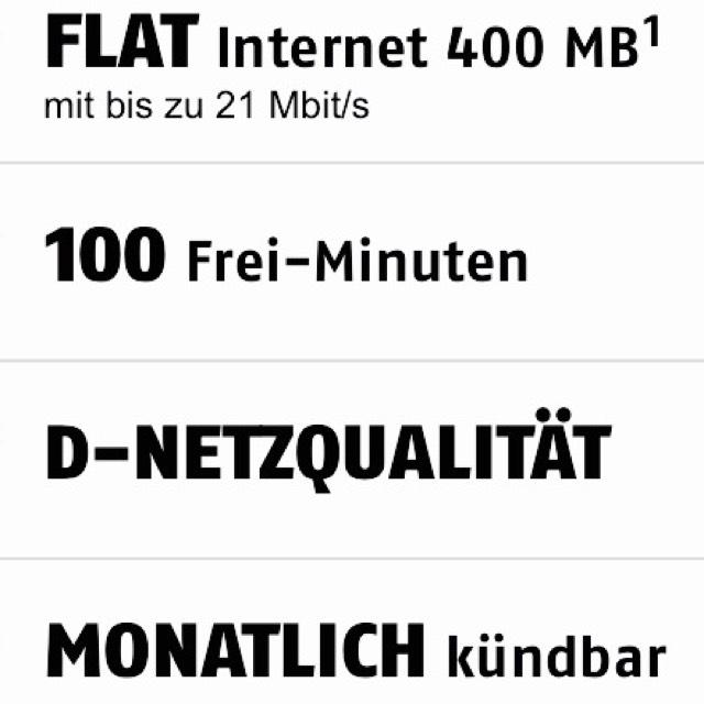 Handy Vertrag monatl. Kündbar D-NETZ