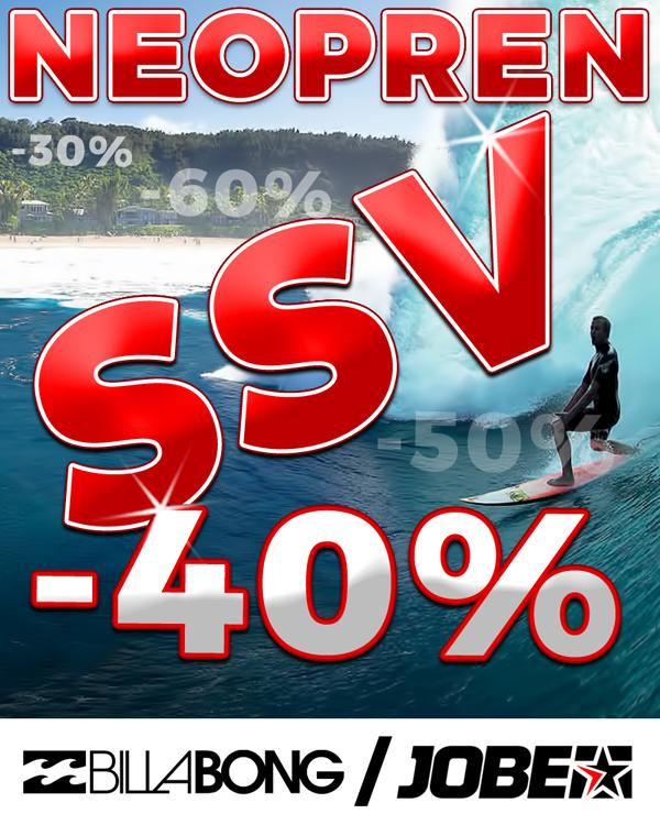 -40% Rabatt auf Neoprenanzüge und Schwimmwesten von Jobe und Billabong