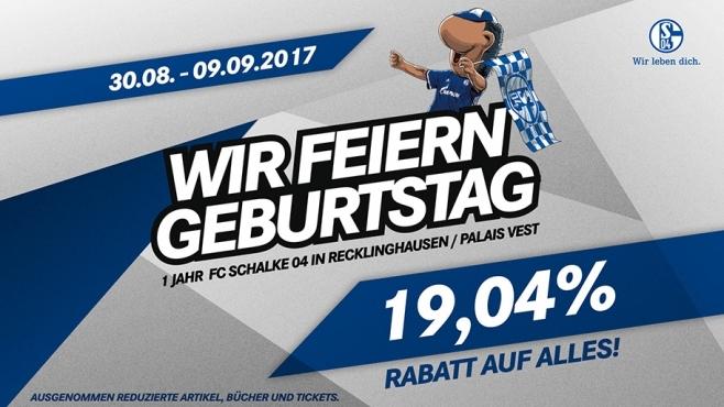 Lokal Recklinghausen 19,04% Rabatt im S04-Fanshop im Palais Vest