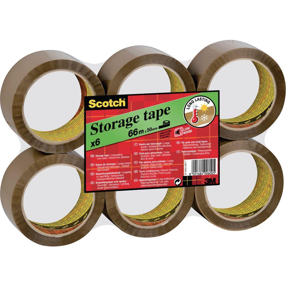 Scotch® UV-resistent Paketband, Low Noise, 50 mm x 66 m (6 Stück) Staples