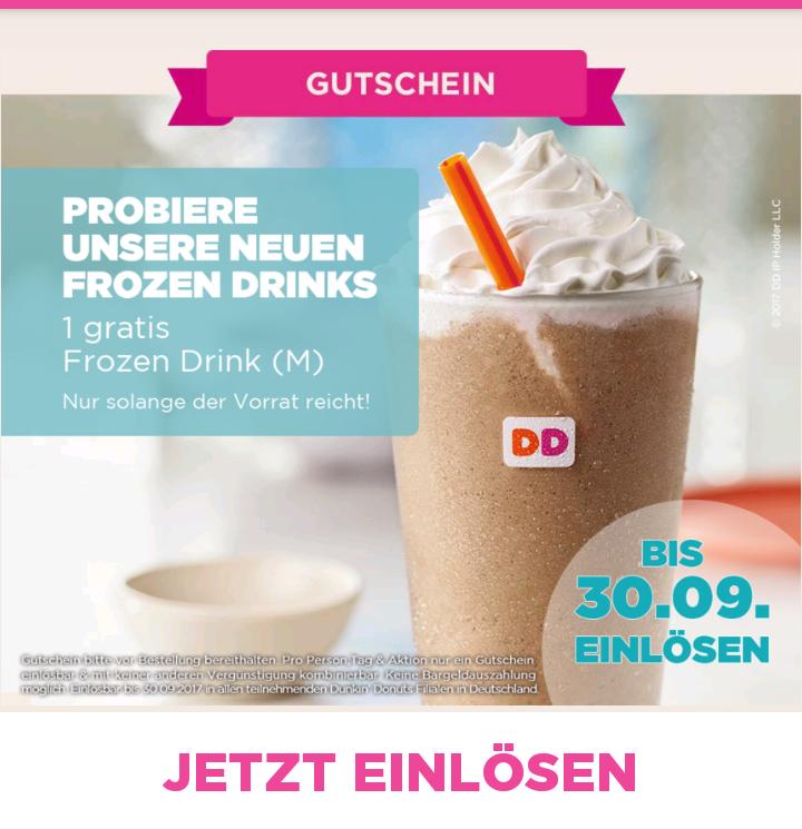 Gratis Dunkin Donuts Frozen Drink M
