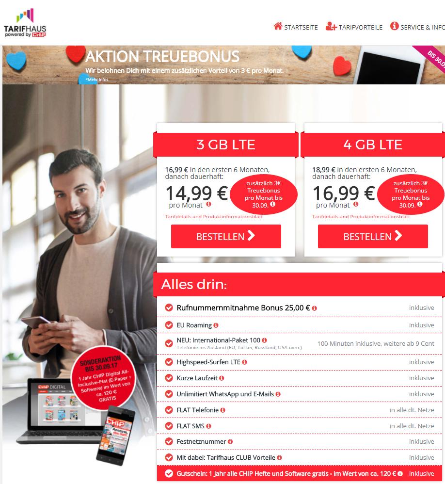 CHIP Digital All-Inclusive-Flat kostenlos mit 6 Monate Handyvertrag (O2-Netz)