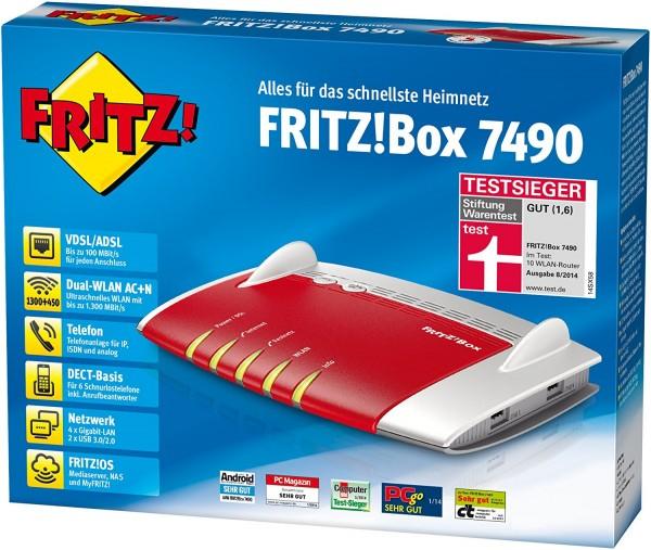 AVM Fritz!Box 7490 für 180,85 inkl Versand LOKAL DANN SOGAR 174,95€