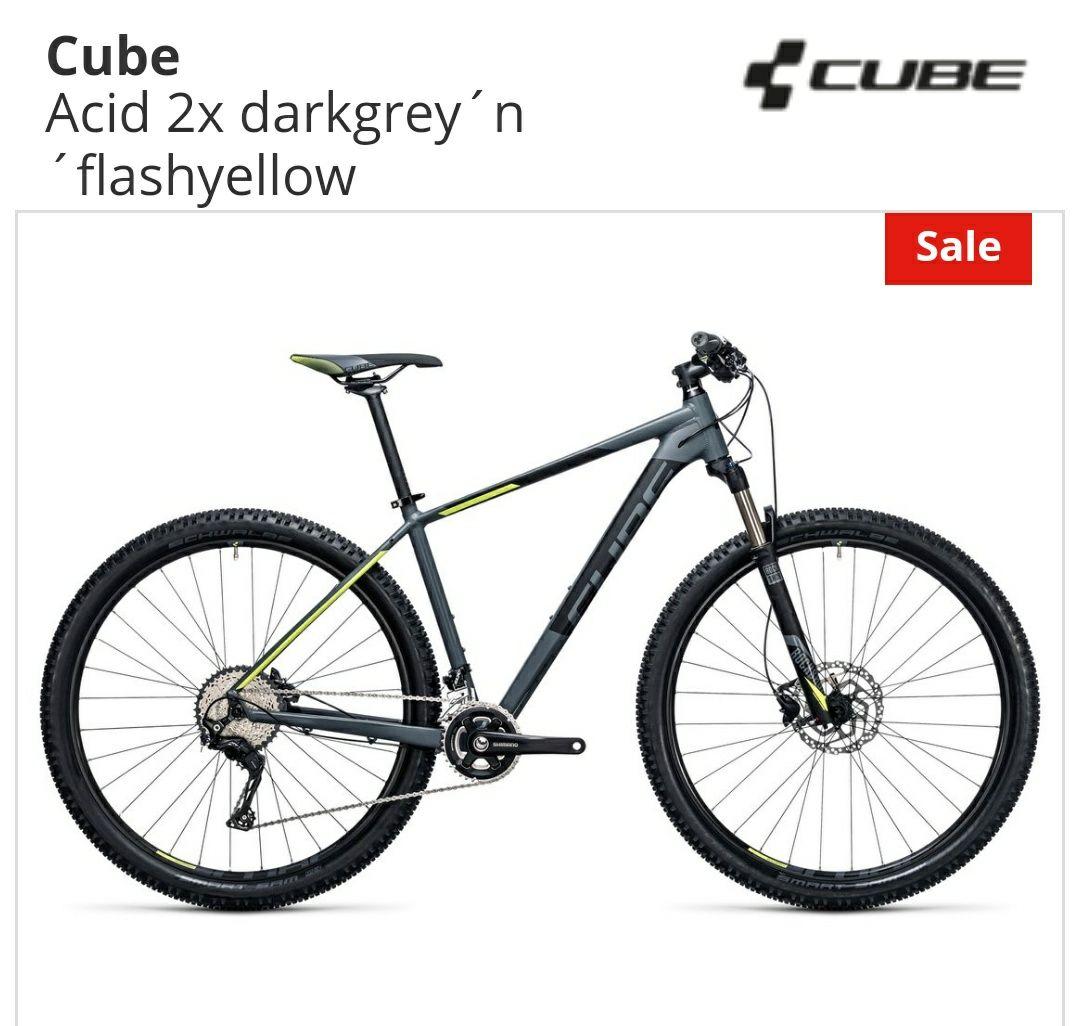 Cube Acid 2x (2017) darkgrey 'n' flashyellow (alle Größen verfügbar) Bike-Discount