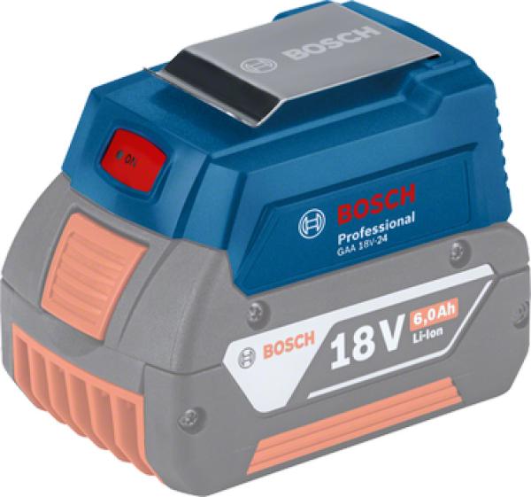Bosch GAA 18V-24 USB Adapter bei Müller Professional Store - Akku zur Powerbank aufrüsten