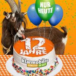 12 Jahre Klarmobil Geburtstagsaktion: Vodafone-Netz + 2GB UMTS + Allnet + SMS + EU Flat für 7,99 € / Monat