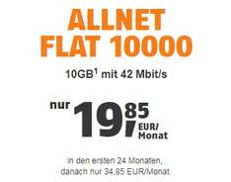 Allnet-Flat bei Klarmobil im D1 Netz inkl. 10 GB, ohne Datenautomatik - Effektivpreis/Monat 20,47€ !