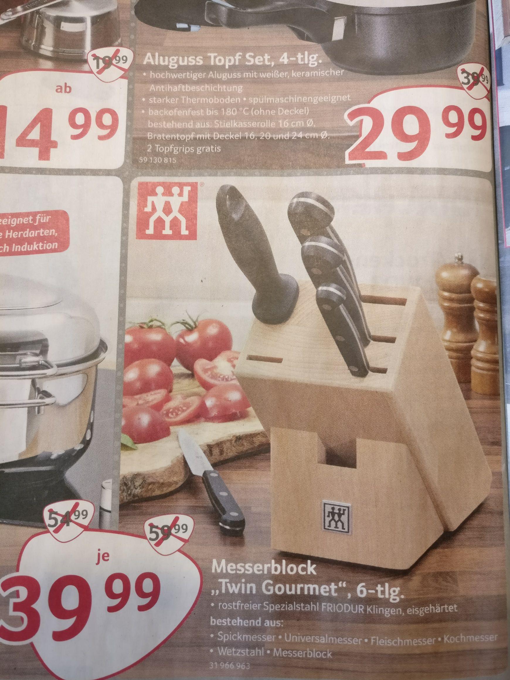 [Selgros - Offline] Zwilling Twin Gourmet Messerblock 6tlg - 30€ unter PVG