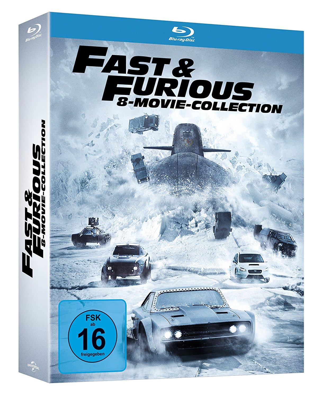 [alphamovies] Fast & Furious 1-8 in einer Box [Bluray] (PVG: 44,99 Euro)