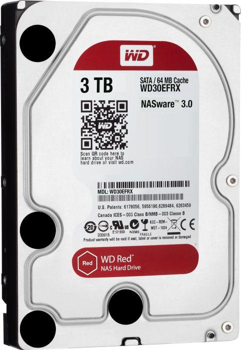 [nur Schweiz / Grenzgänger] WD Red 3TB NAS HDD (3,5'', auf Dauerbetrieb ausgelegt) für 79,77€ [Interdiscount.ch]
