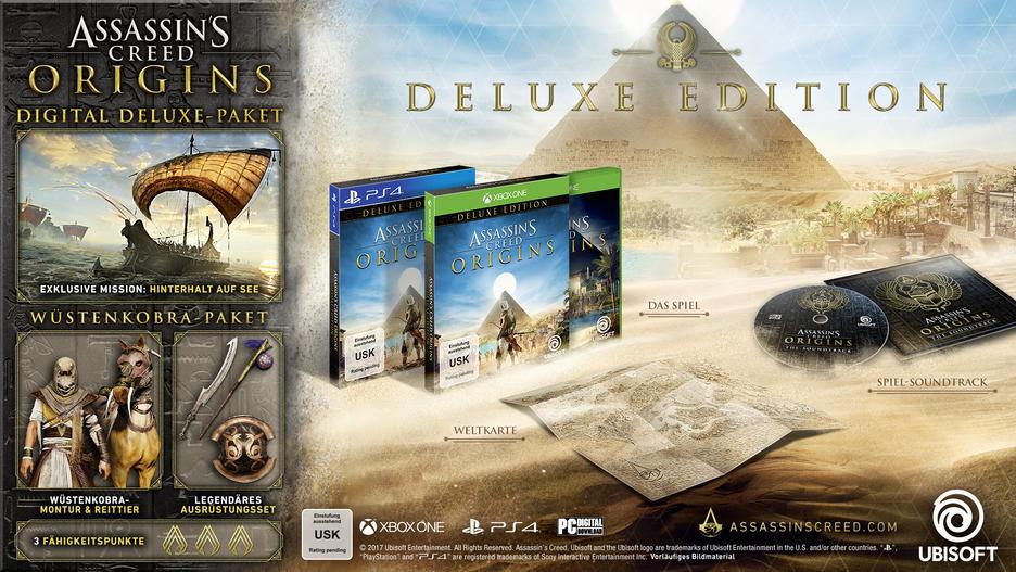 GameStop (online+offline) Assassin's Creed Origins Deluxe Edition zum Preis der Standard-Version