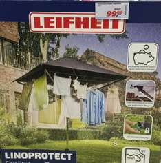 (Lokal Real Moers) Leifheit LinoProtect 400 Wäschespinne mit Dach