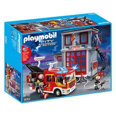 Playmobil 9052 City Action Feuerwehr Mega Set mit Pumpe [real]