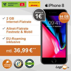 Iphone 8 64 gb für 36,99 mit 2gb und Allnet - Flat