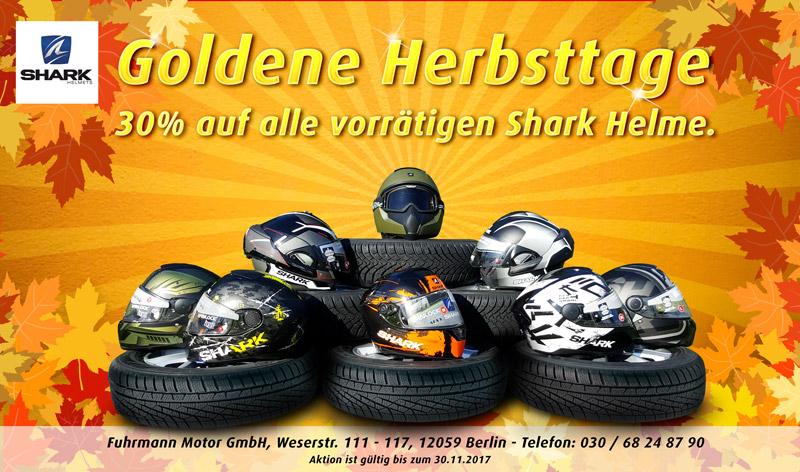 30% auf alle vorrätigen Motorrad Shark Helme. [BERLIN LOKAL]