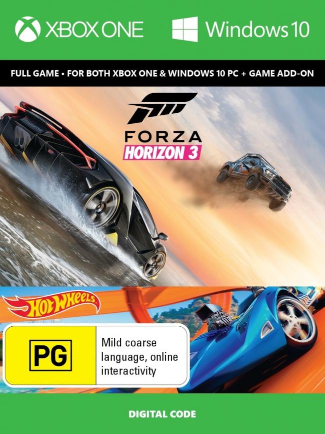 Forza Horizon 3 inkl. Hot Wheels DLC (Xbox One/PC Play Anywhere) für 29,79€