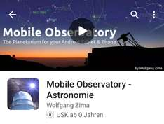 Mobile Observatory - Astronomie 1,19€ statt 4,99€ (Android)