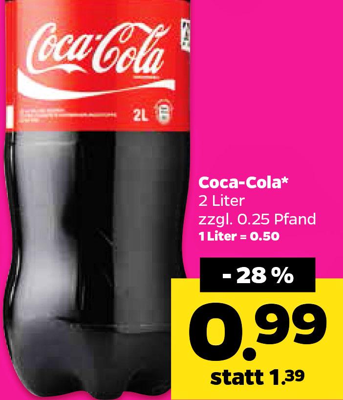 2l Coca Cola für 99 Cent  (Netto mit Hund)  am 28.10.