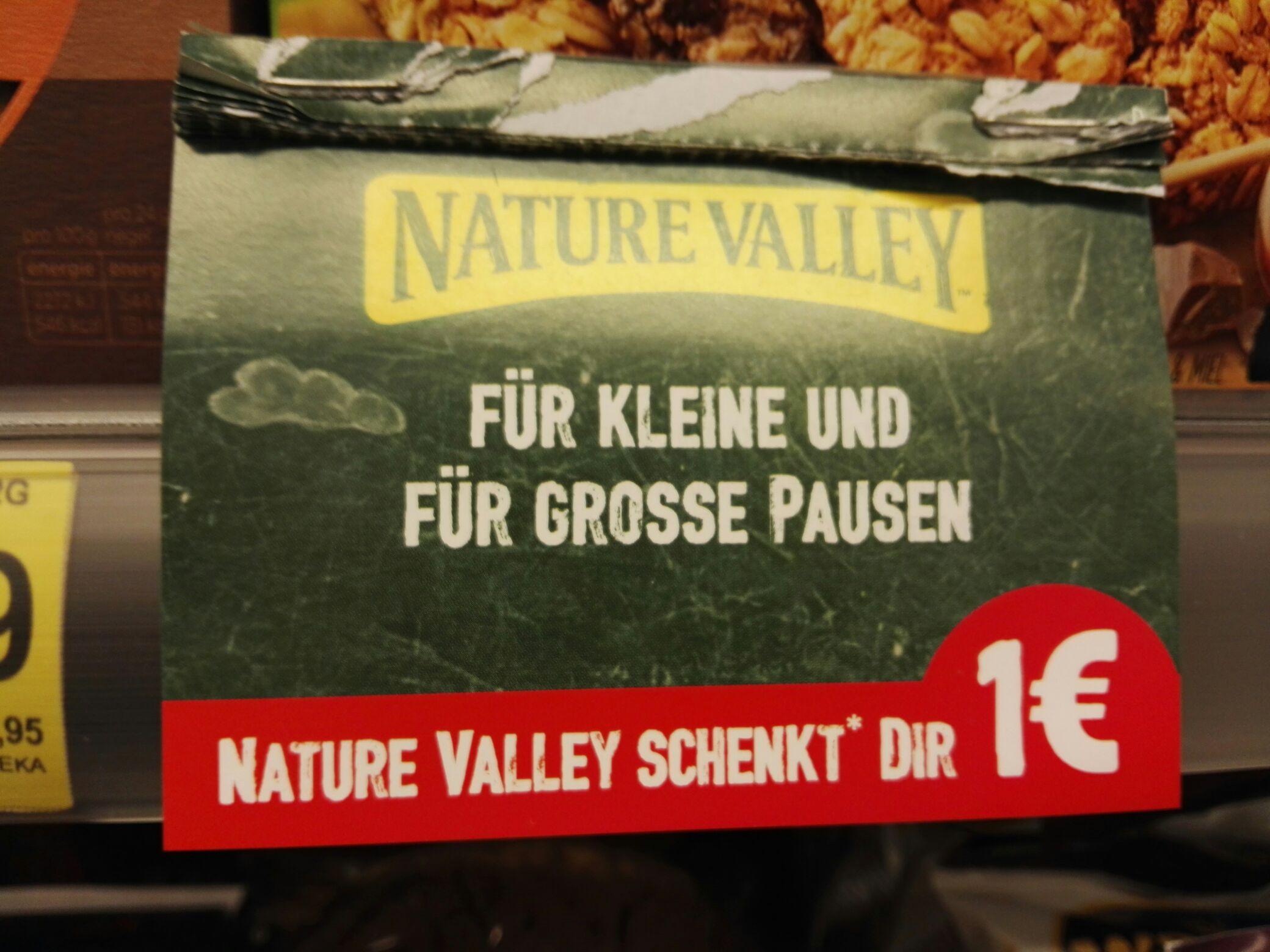Nature Valley Crunchy Müsliriegel / Lokal verschiedene Supermärkte  -1€