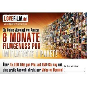 LOVEFiLM - 6 Monate Flatrate 1 Paket (für LOVEFiLM-Neukunden)