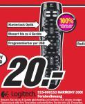 AB MONTAG: Logitech Harmony 300i Universal-Fernbedienung für 20 EUR @MediaMarkt