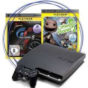 Sony Playstation 3 (PS3) slim 320GB + Gran Turismo 5 + Little Big Planet