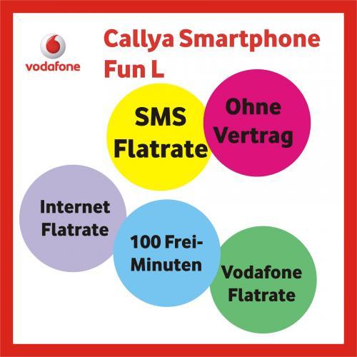 Callya Smartphone Fun L (3 Monate Gratis 100 Freiminuten, Internetflat, SMS Flat, Vodafone Flat)