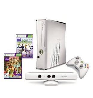 Xbox 360 - Konsole 4GB Slim Weiß + Kinect + Sports um 222€ bei Amazon.de