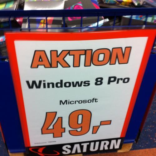 [Wolfsburg, Saturn] Windows 8 pro 32/64 BOX